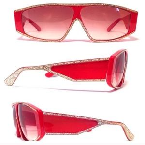 Vintage Sunglasses by Ultra Italy, Red & Gold!