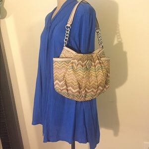 Simply Vera Wang Alicia Chevron Straw Hobo