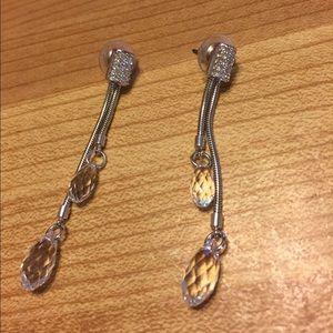 Clear Stone Dangle Earrings