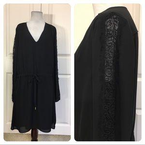 Banana Republic black and lace dress