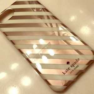 Kate Spade Iphone 6/6s/7/8 rose gold stripes cover