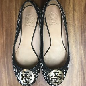 Tory Burch reva flat with dotted calf hair