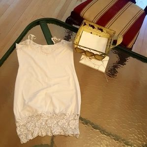 Tops - White Lace Camisole