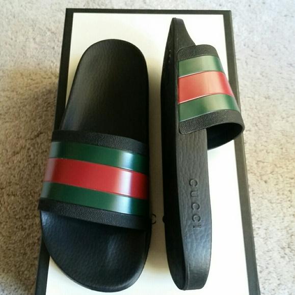 47aaccc312e New Gucci Slides Sandals Men s size 8