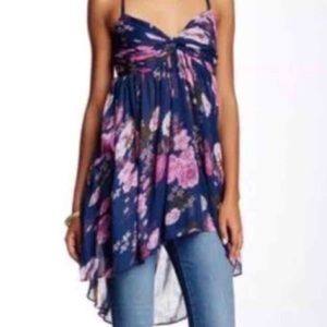 Free People Long Floral Top.  NWT.