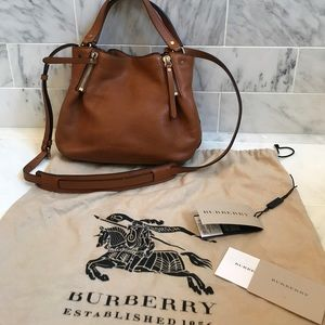 Authentic Burberry Maidstone purse camel leather