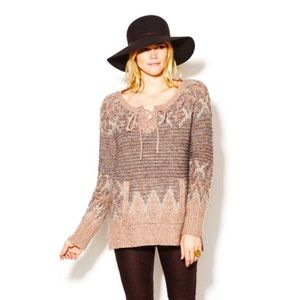 Free People Love Bug Fair Isle Tunic