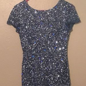 Adrianna Papell  Knee Length Sequined Dress