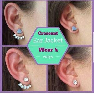 Stella & Dot Crescent Ear Jackets