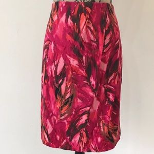 J.Jill floral pencil skirt small