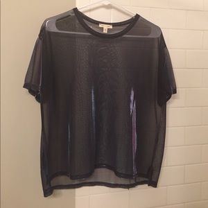 Iridescent mesh shirt
