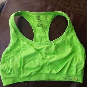 Lime green VSX aports bra