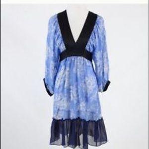 Anthropologie Moulinette Soeurs Blue Silk Dress 8