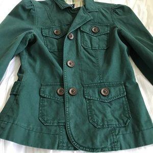 Structured camo green utility jacket/blazer