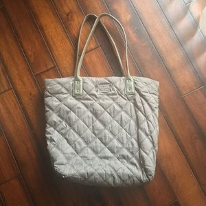 Kate Spade Gray Quilted Tote Bag