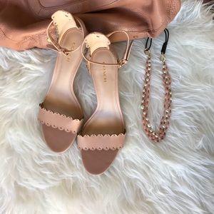 🎀🎀Coach Ankle Strap light rose gold size 8🎀🎀🎀