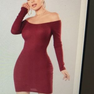 Kaly Sweater Dress but in the color WINE!