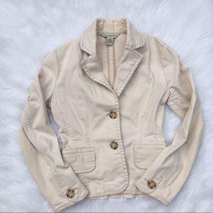 Banana Republic Cream Blazer Jacket