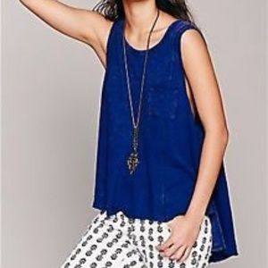 Free people we the free beach house tank blue s