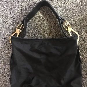 JPK Paris Black Bucket Purse with Gold trim New