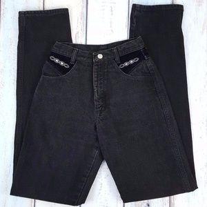 90s Wrangler Silverlake Velvet Waist Jeans 3/4