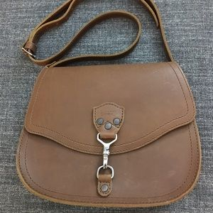 Saddleback Leather Hobo Crossbody Purse Tobacco