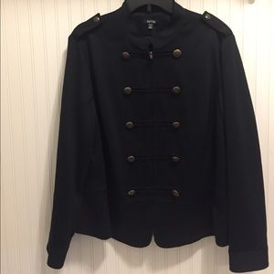 Apt 9 Military style jacket. Pleated peplum back
