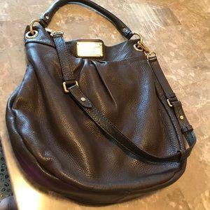 Leather Dark Brown shoulder bag / cross body !
