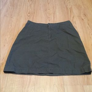 Gap Green Khaki Skirt