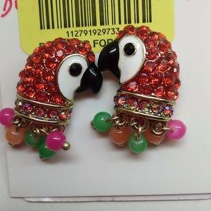 Betsey Johnson Macaw Earrings