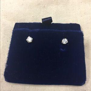 14k Yellow Gold 0.03 Carat Diamond Stud Earrings