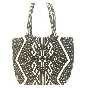 Loft Embroidered Tribal Tote NWT