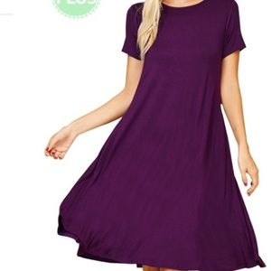Dresses & Skirts - SWING DRESS POCKETS PURPLE PLUS SIZE WOMANS 2X 3X