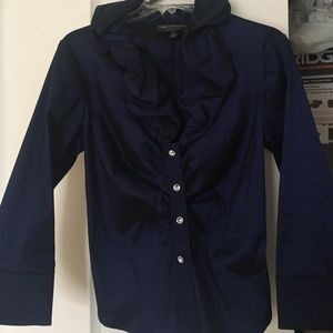 Beautiful Navy dress blouse.