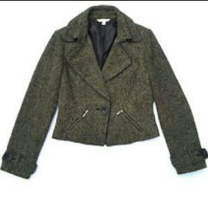 CAbi 638 Tweed Crop Moto Blazer Jacket SZ 10 NWT