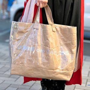 Comme Des Garcons Paper Tote Bag