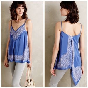 Anthropologie HD in Paris Moonset silk tank size 8