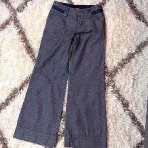 ANTHROPOLOGIE Idra Office Gray Tweed Wide Leg Pant