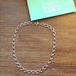 Tiffany's Silver Heart Link Necklace