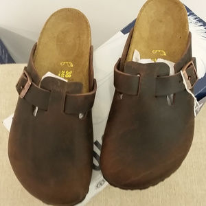 Birkenstock Sandal Women's SZ 7 Boston Brown NEW