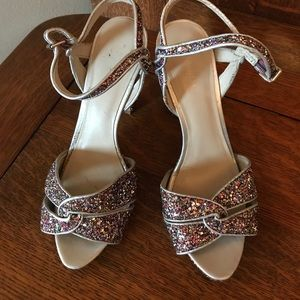 Nine West sparkle heels size 9