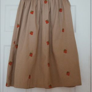 Vintage strawberry patterned skirt
