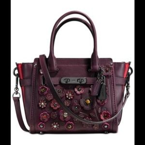 COACH WILLOW FLORAL SWAGGER GLOVETANNED LEATHER 21