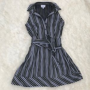 Milly Striped Shirtwaist Dress