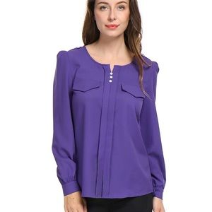 Purple ruched blouse