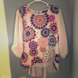 Beautiful multi color blouse