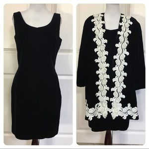 Vintage Jessica McClintock velvet dress and jacket
