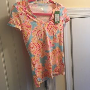 NWT XXS Lilly Pulitzer Michele Top