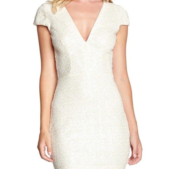 cf4555056c78 Dress the Population Dresses & Skirts - White Dress the Population Zoe  Sequin Mini Dress
