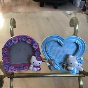 Lot of two (2) Sanrio Hello Kitty picture frames